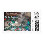 Tangled Lights!Tis the Season... Postage Stamp