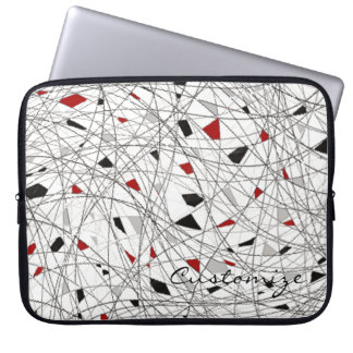 Tangled Lines Abstract Pattern Laptop Sleeve