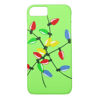 Tangled Mixed Up Holiday Christmas Tree Lights iPhone 8/7 Case