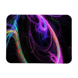 Tangled Neon Rainbow Rectangular Photo Magnet