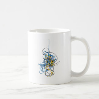 Tangled network cables coffee mug