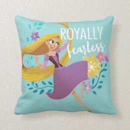 Tangled | Rapunzel - Royally Fearless Throw Pillow