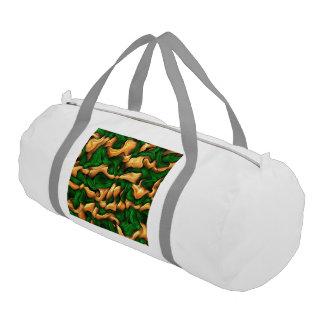 tangled silk green gym duffel bag