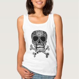 Tangled Skull and Crossbones Tank Top
