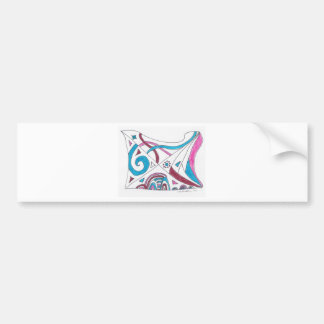 tangled swirls bumper sticker