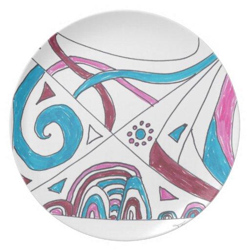 tangled swirls dinner plate