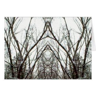 Tangled Totem Trees Nature Art Photo Blank Inside Card