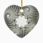 Tangled up in blue ceramic ornament
