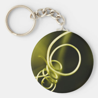 Tangled Vines Abstract Keychain