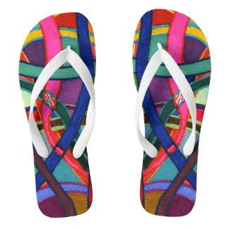 """Tangled Weaving"" abstract flip flops. Flip Flops"