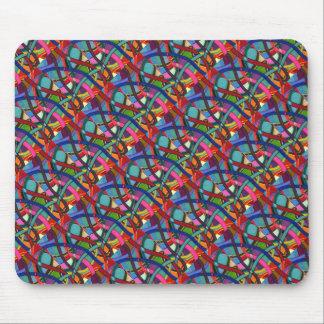 """Tangled Weaving"" Tiled Abstract Design Mousepad"