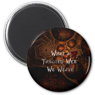 Tangled Web 2 Inch Round Magnet