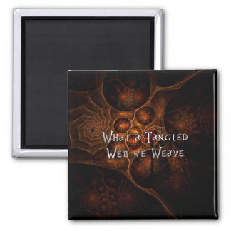Tangled Web 2 Inch Square Magnet