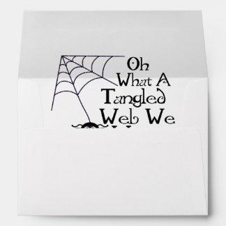 Tangled Web Spider Envelope