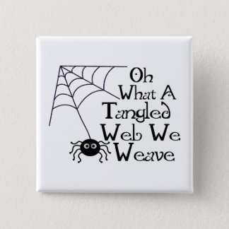 Tangled Web Spider Pinback Button
