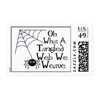 Tangled Web Spider Postage