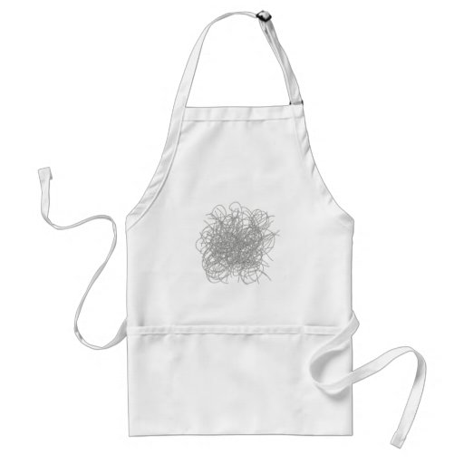 Tangled wires black and white adult apron