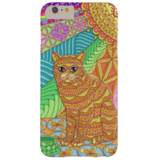 Tangled Yellow Tabby Cat iPhone 6 Plus Case