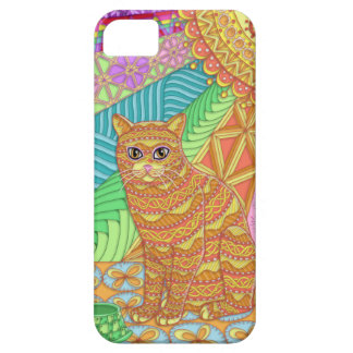 Tangled Yellow Tabby iPhone 5/5S Barely There Case