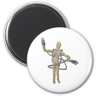 TangledInUSB082611 2 Inch Round Magnet