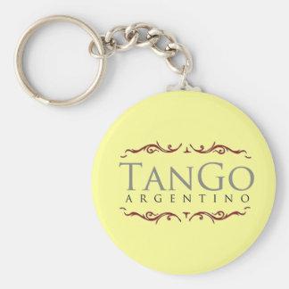 Tango argentino llavero redondo tipo pin