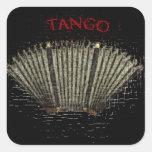 tango argentino pegatinas cuadradas personalizadas