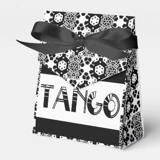 Tango blanco y negro elegante caja para regalos de fiestas