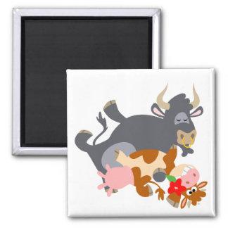 Tango!! (cartoon bull and cow) magnet