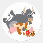 Tango!! (cartoon bull and cow) sticker