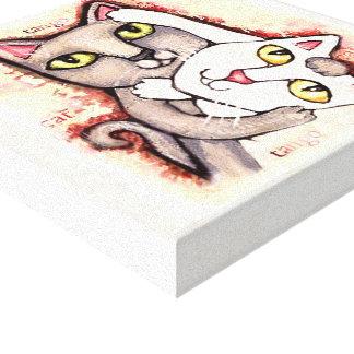 Tango Cats Canvas Print