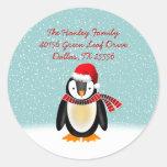 Tango Christmas Address Label Round Stickers