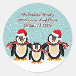 Tango Christmas Address Label Stickers