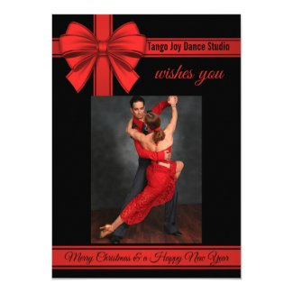 Tango Christmas New Year Dance Party Invitation