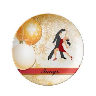 tango christmas porcelain plate