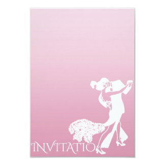 Tango Classic Dance Pink Delicate Pastel Ombre Card