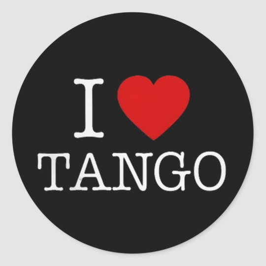 TANGO CLASSIC ROUND STICKER
