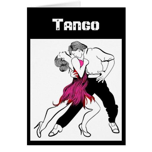 Tango Couple Greeting Cards