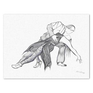 Tango Couple Papel De Seda Mediano