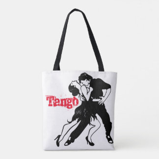 Tango Couple silhouette Tote Bag