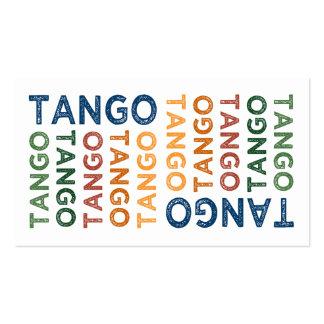 Tango Cute Colorful Business Card
