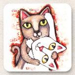 Tango Dance Cats Coaster Set