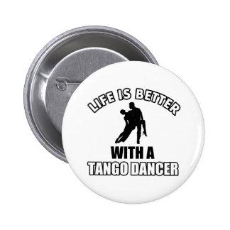 Tango dance designs pinback buttons