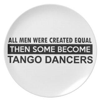Tango dance designs party plate