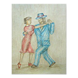 tango dance 4.25x5.5 paper invitation card