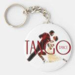 Tango Dance rojo Llavero Redondo Tipo Pin