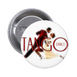 Tango Dance rojo Pin Redondo 5 Cm