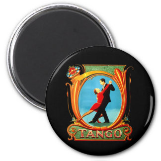 Tango Dancer 2 Inch Round Magnet