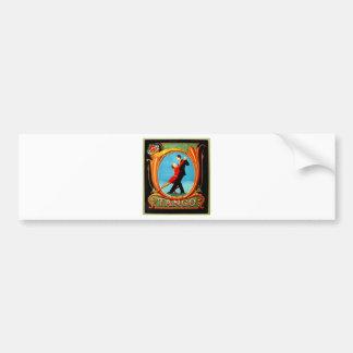 Tango Dancer Bumper Sticker