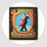 Tango Dancer Classic Round Sticker