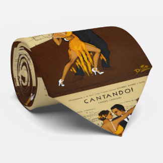 Tango Dancer Couple Vintage Poster Necktie